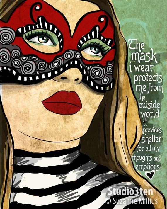 The Mask / original illustration ART Print SIGNED / 8 x 10 / NEW