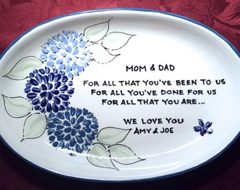 Wedding Gift for Parents - wedding gift for mom - Thank you gift Mom and Dad - wedding gift for dad wedding gift- gift for wedding - floral