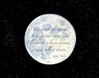 Lasso The Moon 8 x 8 inch print by SBMathieu