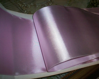 """1 yd. of orchid ice vintage satin rayon ribbon 5"""" wide"""