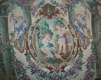 Very fine pettipoint of silk in a wonderful pattern