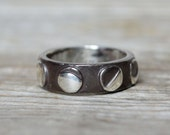 Moon Phases Ring by Peg and Awl