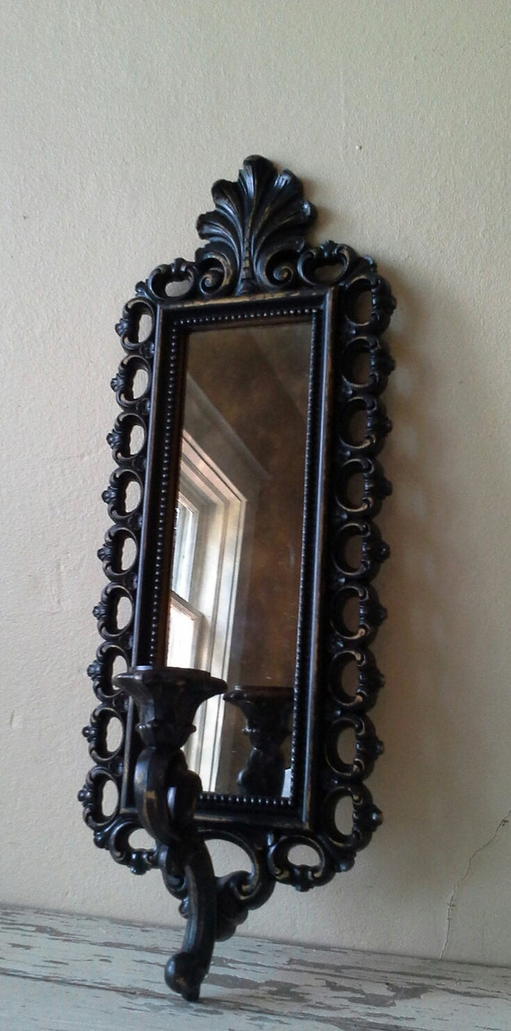 HALLOWEEN DECOR Mirror Wall sconce candle sconce vintage