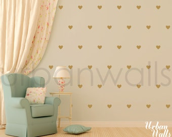 Vinyl Wall Sticker Decal Art - Little Hearts