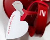 10 Handmade Twist Ties - Heart (5.9 x 1.6in)
