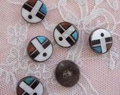 Fabulous Zuni Button Circa 1950s