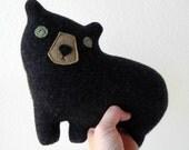 the Cub - Pendleton wool plush bear pillow - MADE TO ORDER