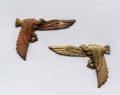 reserved for Spinks /8 Vintage Small Egyptian Falcon Pair Brass Metal Stampings
