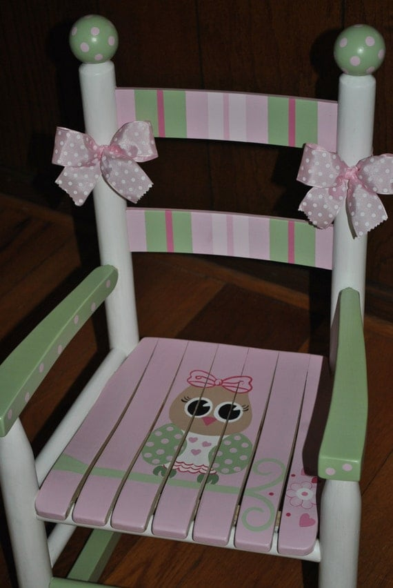 Items Similar To Childrens Custom Hand Painted Girls Pink