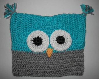 Crocheted Owl Hat size Toddler