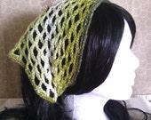 Olive Green Sparkle Crochet Kerchief