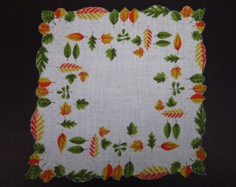 Vintage Handkerchief Autumn Leaf Design (vh170)