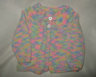 baby,s multi coloured matinee jacket