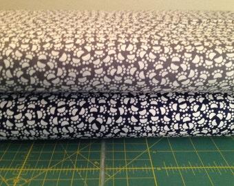 Paw Prints I Spy Dog Cat Pet Animal Fabric By the Fat Quarter BTFQ