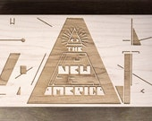 "Randomly Selected | One-Of-A-Kind Laser Engraved Frame from ""The New America"" 8x4.5 in"