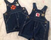 OSU or OU Baby Boy Short Overalls