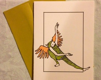 "5"" x 7"" card with envelope title : ""I like to Dance II"""