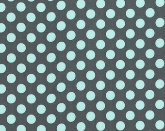 Michael Miller Fabric, Ta Dot in Marine, Designer Fabric by the Yard, 1 Yard Total