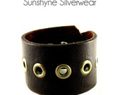 Dark Brown Leather Cuff
