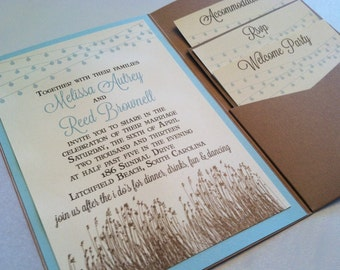 Low Country/Beach Backyard Wedding Invitation