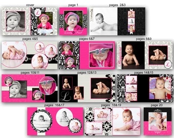 INSTANT DOWNLOAD - 10x10 Baby Album template - Landry - 0345 FA