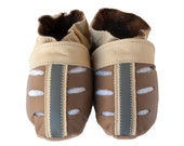 Striped Sandals (baby shoes in all-natural leather)
