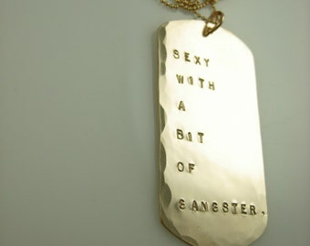 Personalized Dog Tag Necklace - Hand Stamped Necklace