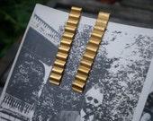 brass earrings / vintage brass / brass jewelry / ZIG ZAG STUDS