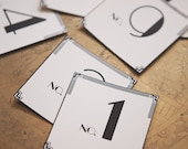 Art Deco: Table Number Cards (1-12)