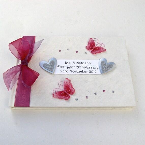 First wedding anniversary memory book