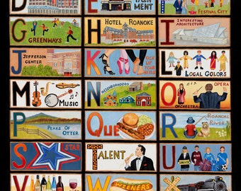The ABC's of Roanoke, Virginia Poster