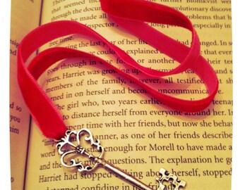 Vintage style Skeleton Key Ribbon Bookmark