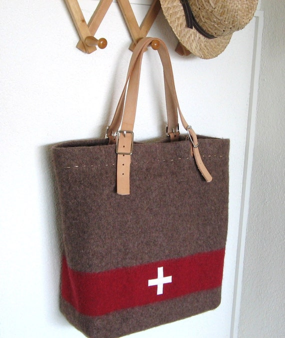 Items similar to Swiss Army Blanket Bag - XL Beach Bag -durable ...