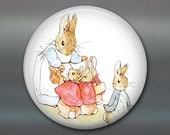 peter rabbit magnet, beatrix potter fridge magnet, cute bunny decor, large children's magnet, oversize magnet  MA-150
