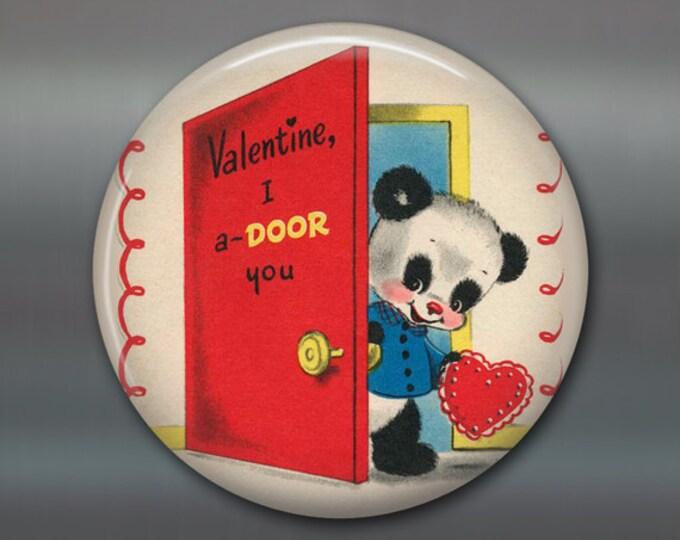 """3.5"""" vintage valentine magnet, school valentine card fridge magnet, kitchen decor, large magnet big magnet MA-1350"""