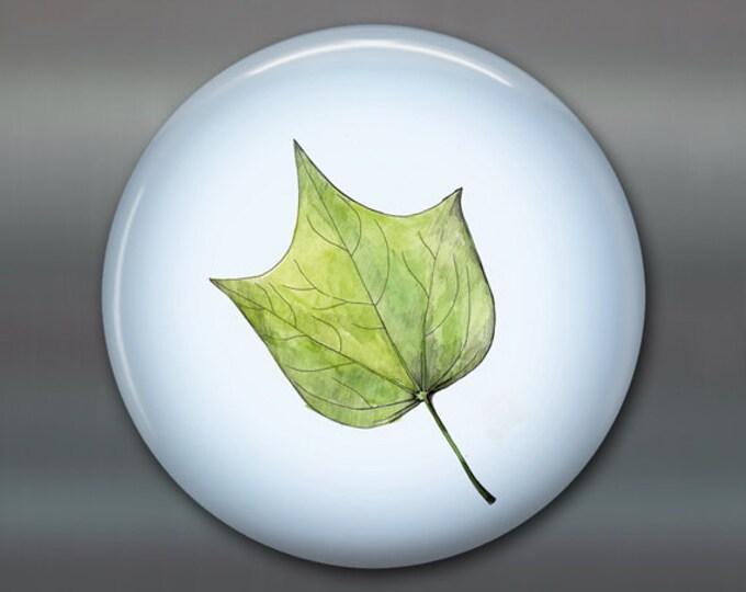 """3.5"""" leaf fridge magnet, green leaf decor, kitchen decor, big magnet,  MA-1906"""