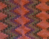 Burnt Orange Swedish Weaving Throw