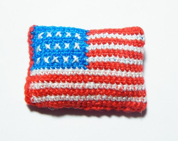 Small American Flag Crochet Pattern : Small American Flag - pattern/ tutorial for crocheted ...