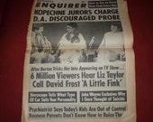 Newspaper  National Enquirer, Liz Taylor, John Wayne ,Vintage 1970 b3