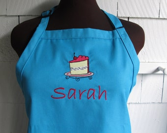Baking Apron with Slice of Cake - Personalized Apron for Women