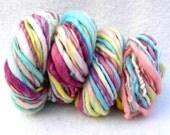 Snuggle 50 yards Thick and Thin Handspun yarn