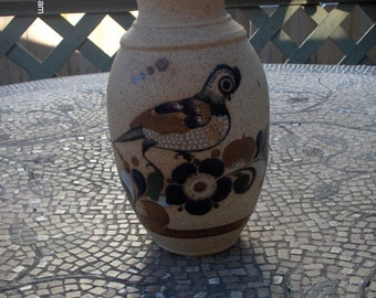 PRICE REDUCTION - Mexican Folk Art Pottery Vase - Beautiful