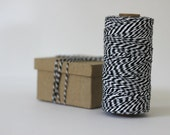 Halloween Black & White Bakers Twine - 10 metres - Perfect for Gift Wrapping and Crafts