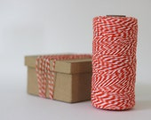 Orange & White Bakers Twine - 10 metres - Perfect for Gift Wrapping and Crafts