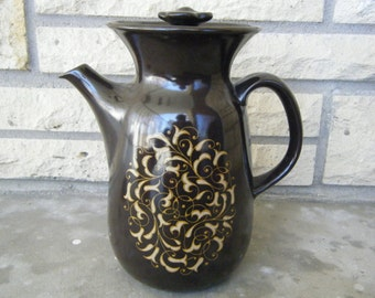 Tall Floral Ceramic Pitcher