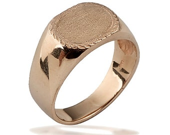 Custom Signet Ring, Gold Signet Ring, Father's Day Gift, Promise Ring, Men's Signet Ring, Wedding Ring, Personalized Gift, Signet Ring Women