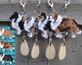 Shetland Sheepdog crate tag sheltie dog kennel home art decor ornament, Choose your color, Magnet option