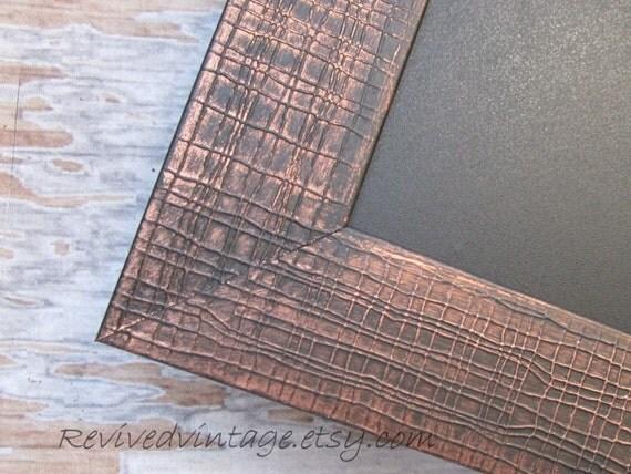 "INDUSTRIAL FRAMED CHALKBOARD Long Narrow Chalk board Bronze Black Framed 39""x16"" Modern Kitchen Magnetic Urban Decor Kitchen Magnet Board"