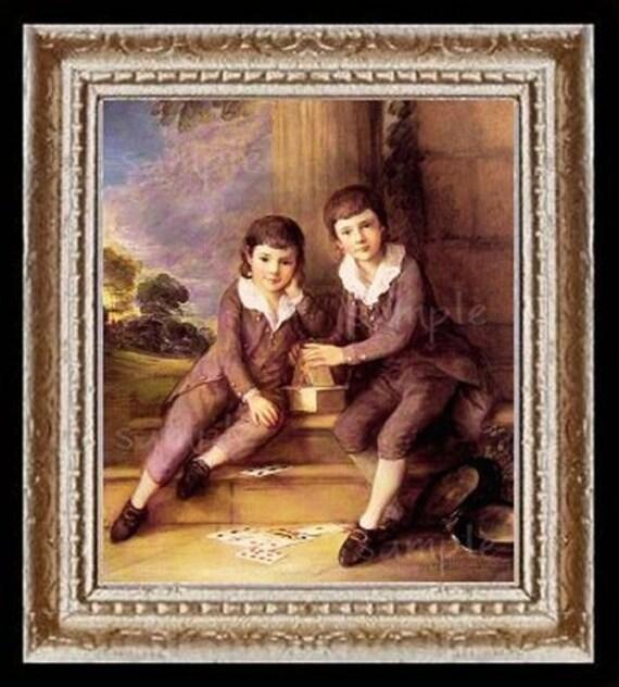 1700's Children Miniature Dollhouse Art Picture 6645