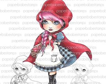 Digital Stamp - MayLeeDee Little Red Hood - Digital image for papercrafts